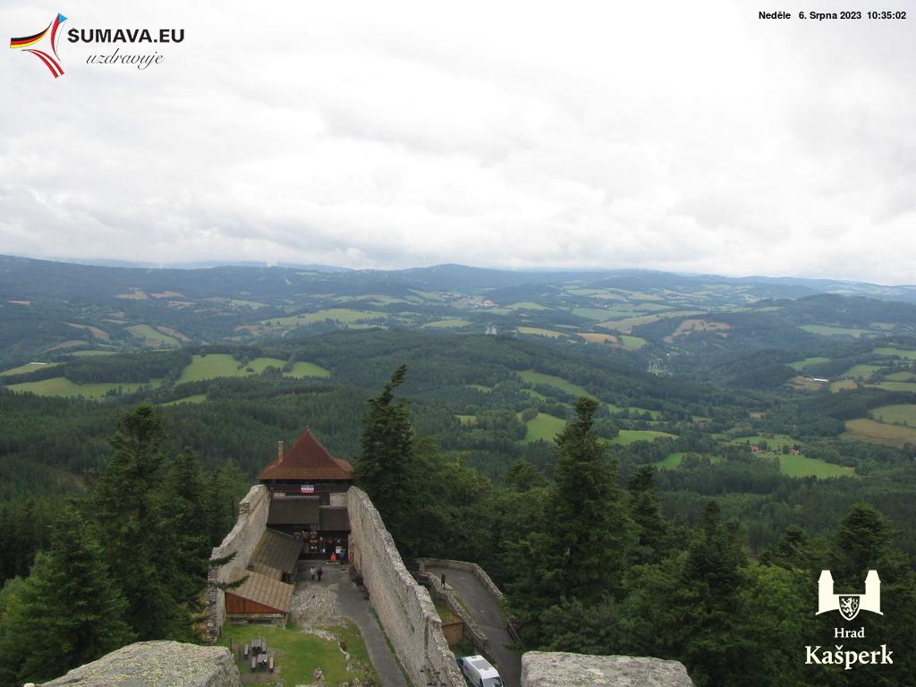 Webkamera hrad Kašperk